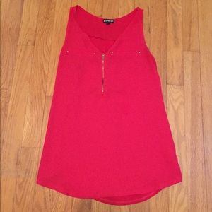 Size small Express dress tank, red